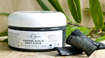 all natural bamboo charcoal sugar scrub
